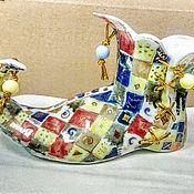 Статуэтки ручной работы. Ярмарка Мастеров - ручная работа Средневековый башмак. Фарфор.. Handmade.
