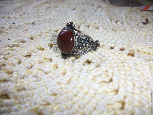 Кольца ручной работы. Ярмарка Мастеров - ручная работа. Купить колечки с коричневой яшмой. Handmade. Натуральный камень, яшма в оправе