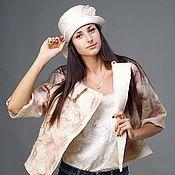 """Одежда ручной работы. Ярмарка Мастеров - ручная работа Валяная куртка с флисом """"Розовый меланж"""". Handmade."""