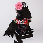 Куклы и игрушки handmade. Livemaster - original item Mrs. Catherine Crow / Art Doll / handmade and unique / with ow. Handmade.