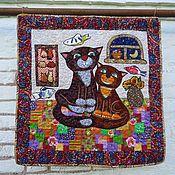"""Картины и панно ручной работы. Ярмарка Мастеров - ручная работа Панно """"Кошки"""". Handmade."""