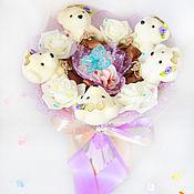 Цветы и флористика handmade. Livemaster - original item Bouquet of 5 bears