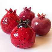 """Для дома и интерьера ручной работы. Ярмарка Мастеров - ручная работа Мини ваза """"Гранат"""". Handmade."""