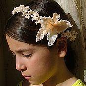 Brooches handmade. Livemaster - original item Brooch-barrette Orchid. Handmade.