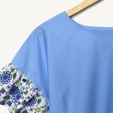 Одежда ручной работы. Ярмарка Мастеров - ручная работа Блузы из поплина для мамы и дочки. Handmade.
