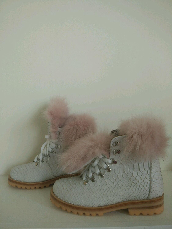 26da0f88e7e7 Зимние ботинки из кожи питона – купить в интернет-магазине на Ярмарке  Мастеров с ...
