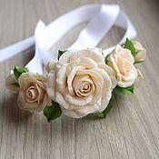 Свадебный салон ручной работы. Ярмарка Мастеров - ручная работа Браслет с розами. Handmade.