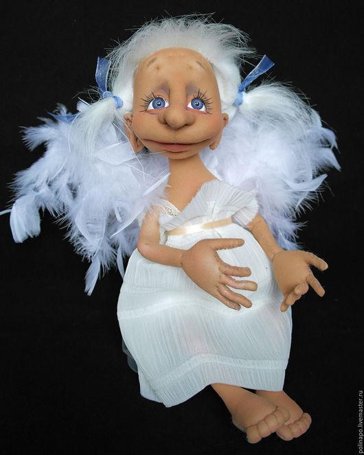 Коллекционные куклы ручной работы. Ярмарка Мастеров - ручная работа. Купить Ангел. Handmade. Белый, ангелочек, ангелок, скульптурный текстиль