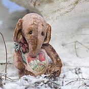 Куклы и игрушки ручной работы. Ярмарка Мастеров - ручная работа Друг сердечный слон тедди. Handmade.