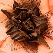 """Украшения ручной работы. Ярмарка Мастеров - ручная работа Брошь """"Шоколадная роза"""". Handmade."""