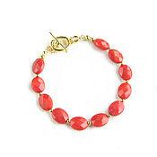Украшения handmade. Livemaster - original item Natural coral bracelet