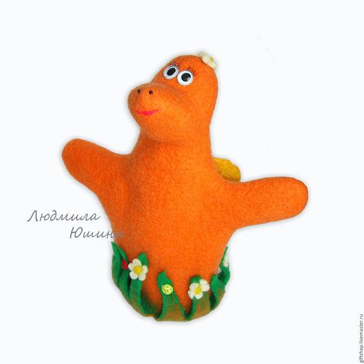 """Игрушки животные, ручной работы. Ярмарка Мастеров - ручная работа. Купить """"Ящерка-бабочка"""" игрушка-перчатка на руку.. Handmade. Комбинированный"""