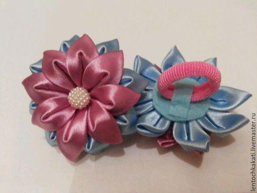 """Заколки ручной работы. Ярмарка Мастеров - ручная работа. Купить резиночки""""цветочки"""". Handmade. Бантики для волос"""