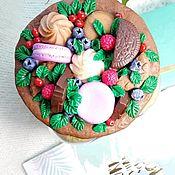 Банки ручной работы. Ярмарка Мастеров - ручная работа Баночки с декором из полимерной глины. Handmade.