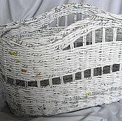 Для дома и интерьера ручной работы. Ярмарка Мастеров - ручная работа Корзина интерьерная белая. Handmade.