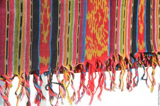 """Текстиль, ковры ручной работы. Ярмарка Мастеров - ручная работа. Купить Легкое покрывало ручной выделки в технике """"Икат"""".. Handmade."""