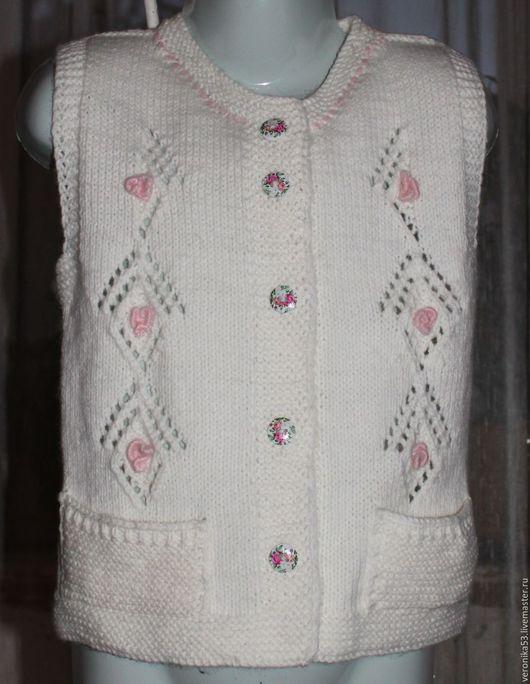Одежда для девочек, ручной работы. Ярмарка Мастеров - ручная работа. Купить Жилетка детская. Handmade. Жилетка, безрукавка детская