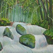 Картины ручной работы. Ярмарка Мастеров - ручная работа Картины: Лесной ручей. Handmade.