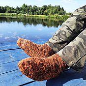 Аксессуары handmade. Livemaster - original item Rust Socks Men`s Woolen Winter Warm 42-43 Autumn Red. Handmade.