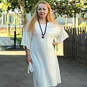 "Одежда handmade. Livemaster - original item Knitted summer dress ""Luxury white"". Handmade."