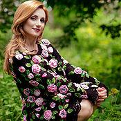 """Одежда ручной работы. Ярмарка Мастеров - ручная работа Платье крючком """"Вечерняя роза"""". Handmade."""