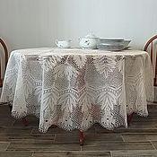 """Для дома и интерьера ручной работы. Ярмарка Мастеров - ручная работа Скатерть """" Каменный цветок"""". Handmade."""