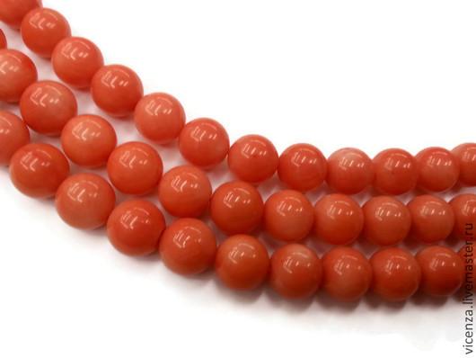 Для украшений ручной работы. Ярмарка Мастеров - ручная работа. Купить Коралл оранжевый 8, 10 мм. Handmade. Камни