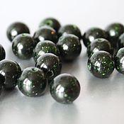Материалы для творчества handmade. Livemaster - original item 103 - green AVENTURINE smooth ball 8mm. Handmade.