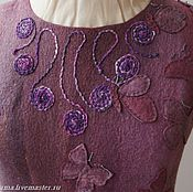 Одежда ручной работы. Ярмарка Мастеров - ручная работа валяное платье Бабочки. Handmade.