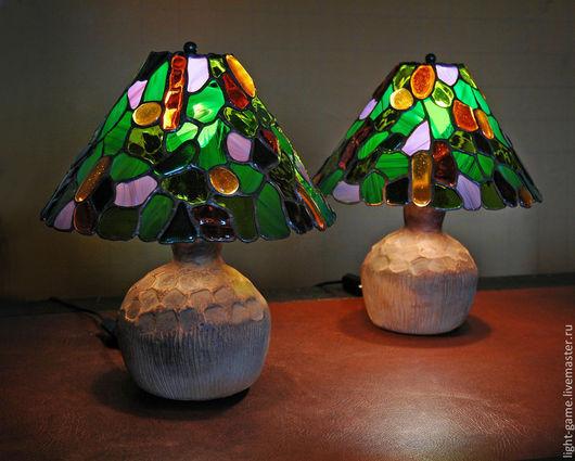 """Освещение ручной работы. Ярмарка Мастеров - ручная работа. Купить витражные светильники """"Июльская пара"""". Handmade. Зеленый, витражное стекло"""