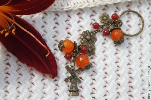 """Брелоки ручной работы. Ярмарка Мастеров - ручная работа. Купить Брелок для ключей """"Голландия"""". Handmade. Оранжевый, брелоки, брелок в подарок"""