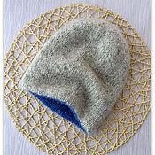 Аксессуары ручной работы. Ярмарка Мастеров - ручная работа Двойная двухцветная шапочка бини. Handmade.