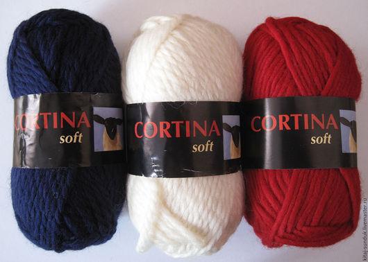 Вязание ручной работы. Ярмарка Мастеров - ручная работа. Купить Пряжа Cortina Soft (Норвегия) 100 % шерсть. Handmade.