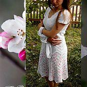 """Одежда ручной работы. Ярмарка Мастеров - ручная работа Ажурное платье крючком """"Яблони в цвету"""". Handmade."""