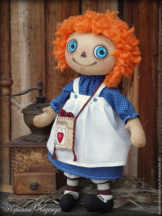 Ароматизированные куклы ручной работы. Ярмарка Мастеров - ручная работа. Купить Чердачная кукла Реггеди Энн. Улыбчивая девочка. Примитив. Handmade.