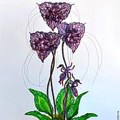 Цветы и флористика ручной работы. Ярмарка Мастеров - ручная работа Орхидеи из бисера. Handmade.