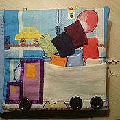 """Куклы и игрушки ручной работы. Ярмарка Мастеров - ручная работа Книжка развивающая """"Транспорт"""". Handmade."""