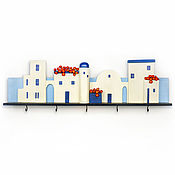 "Для дома и интерьера handmade. Livemaster - original item Ключница-вешалка ""Санторини"". Ключница. Вешалка для дачи, в детскую.. Handmade."