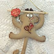 Куклы и игрушки ручной работы. Ярмарка Мастеров - ручная работа Веселые обезьянки. Handmade.