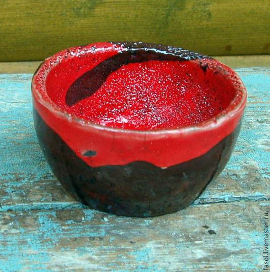 Пиалы ручной работы. Ярмарка Мастеров - ручная работа. Купить Пиала керамическая раку. Handmade. Ярко-красный, пиала