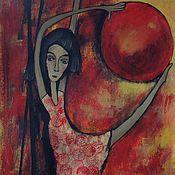 """Картины и панно ручной работы. Ярмарка Мастеров - ручная работа Картина  """"Акробатка"""". Handmade."""