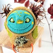 """Куклы и игрушки ручной работы. Ярмарка Мастеров - ручная работа войлочная фигурка """"Кодама-птица"""". Handmade."""