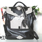Сумки и аксессуары handmade. Livemaster - original item Women`s leather backpack briefcase «North Land». Handmade.