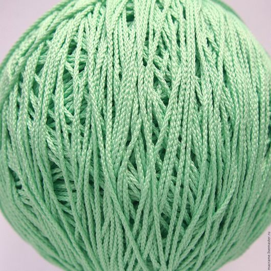 Для украшений ручной работы. Ярмарка Мастеров - ручная работа. Купить Шнур плетеный полиэфирный 1,5 мм мятный. Handmade.