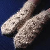 Аксессуары handmade. Livemaster - original item Women`s knitted mittens Golden Tree. Handmade.
