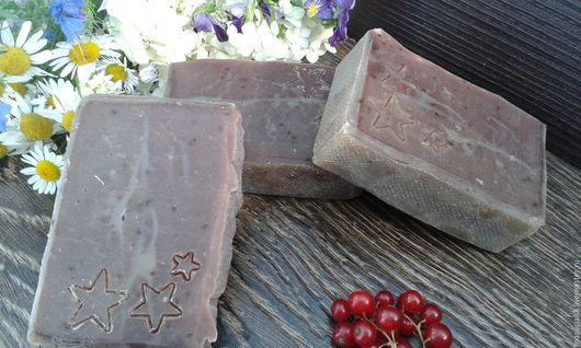 """Мыло ручной работы. Ярмарка Мастеров - ручная работа. Купить Мыло """"Сахарная клубника"""" натуральное. Handmade. Рыжий, для тела"""