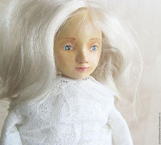 Коллекционные куклы ручной работы. Ярмарка Мастеров - ручная работа. Купить Белая авторская куколка. Handmade. Белый, кукла интерьерная