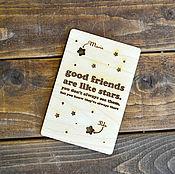 Открытки handmade. Livemaster - original item Postcard made of wood. Handmade.