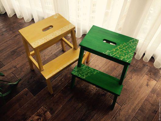 Мебель ручной работы. Ярмарка Мастеров - ручная работа. Купить Табуретка - лесенка. Handmade. Желтый, лесенка, табуретка-ступенька