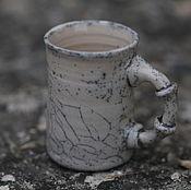 """Посуда ручной работы. Ярмарка Мастеров - ручная работа Кружка кофейная """"Бамбук"""". Раку керамика.. Handmade."""